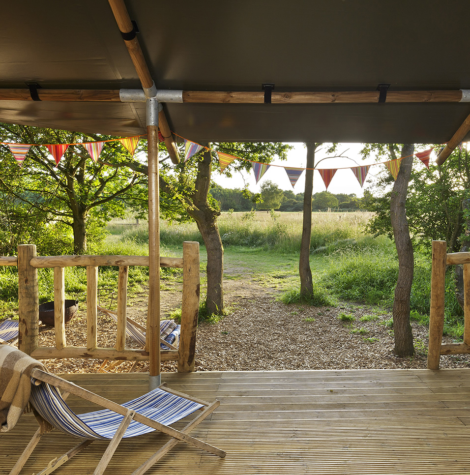 A wonderful view from one of our luxury lodge glamping tents